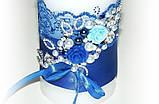 Свеча  Семейный очаг, сине белая., фото 2