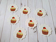 Бирка декоративная пирожное c клубникой