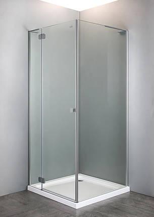 Душевая кабина VOLLE BENITA квадратная 90*90*195 см, поддон (PUF) 5 см, распашная, хром, стекло прозрачное, фото 2