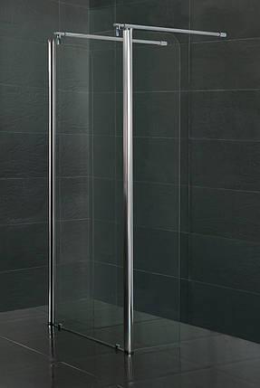 Стенка c подвижным профилем VOLLE 350*1900 мм, каленое прозрачное стекло 8мм, фото 2