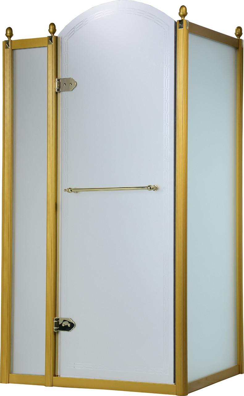 Душевая кабина VOLLE GRAND TENERIFE с распашной дверью, в золоте, без поддона 1200*800*2000мм, левая