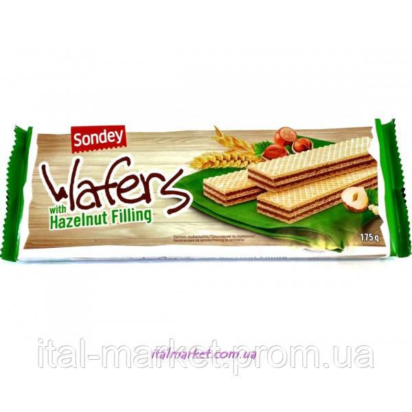Вафельки с орехом Wafer con crema alla Nicciola 175г