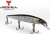 Воблер Jackall MagSquad 128 128мм 21г HL Silver & Black Suspending