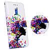 Samsung J3 (2016) J320 оригинальный чехол книжка иск. КОЖА с 3D рисунком принтом противоударный на телефон PR1, фото 2