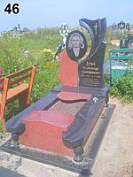 Елітний пам'ятник комплет з рельєфним квітником із граніту