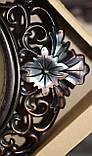 Часы темно-коричневые настенные, ромб с узором, фото 3