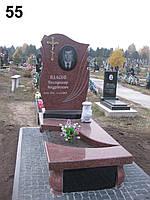 Ексклюзивний комплект на кладовище пам'ятник з граніту лізник та хрест