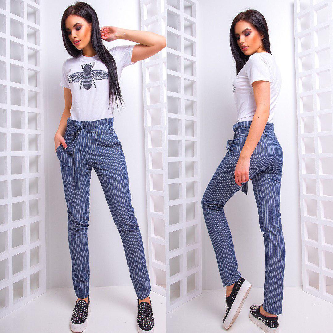 bdafe83f489 Костюм женский брюки +футболка в расцветках АМН-1803.041 - Интернет-магазин