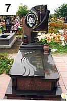 Ексклюзивний пам'ятник, комплекс із граніту та надмогильною плитою на кладовище