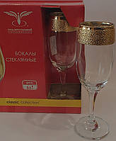 """Набор бокалов 190 мл для шампанского KAV22-419 рисунок """"Золотой крат"""" 6 шт."""