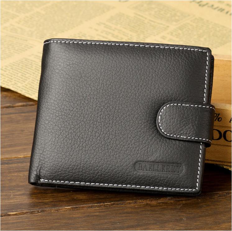 0d4a17777795 Мужской кошелек Baellerry из натуральной кожи. Портмоне мужское. Черный  цвет.