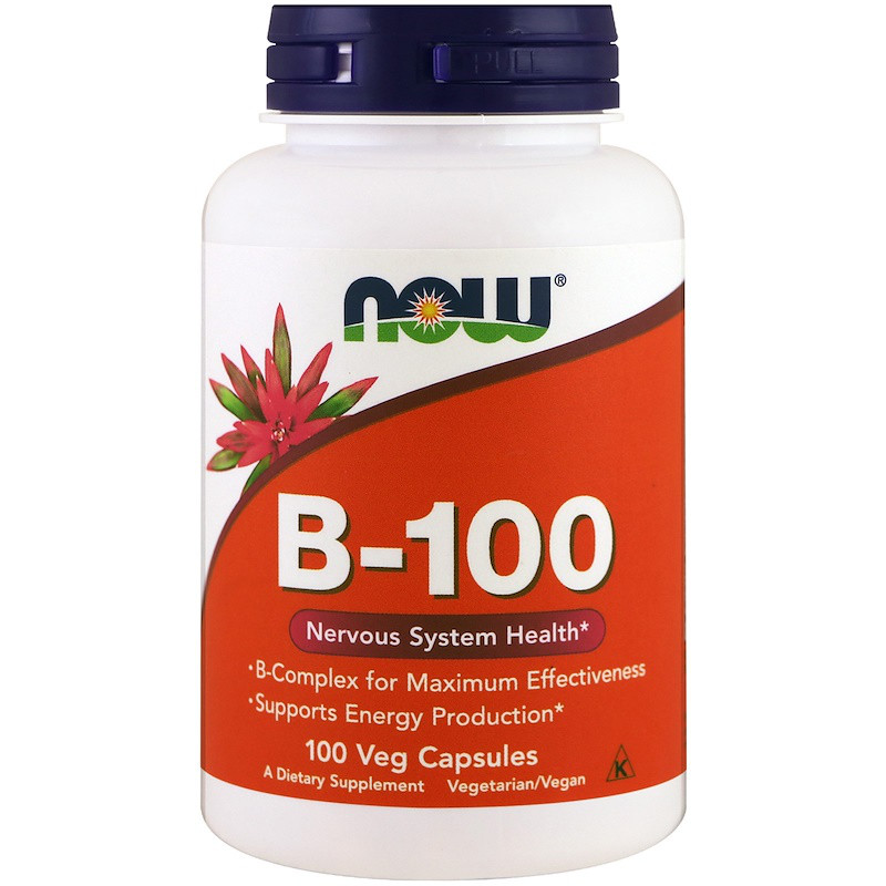 Витамины NOW B-100 100 veg caps