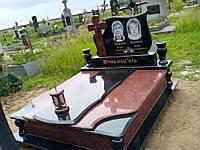Ексклюзивний подвійнний пам'ятник з граніту лізник, габро №0072