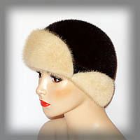 Норковая шапочка с ушками, фото 1