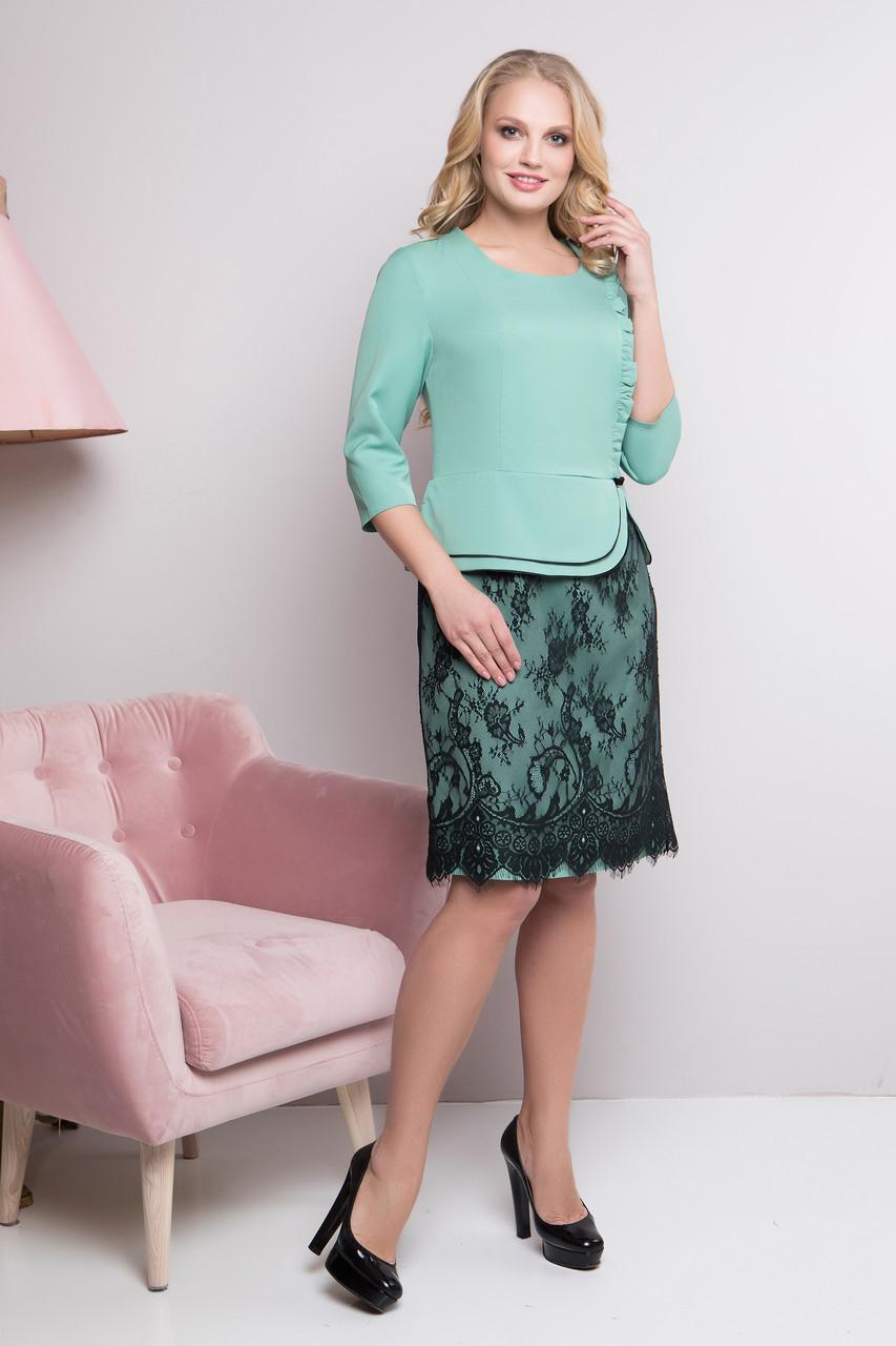 152589f7ded Нарядное женское платье большие размеры Роксолана (50-58)Мята - Varia в  Харькове