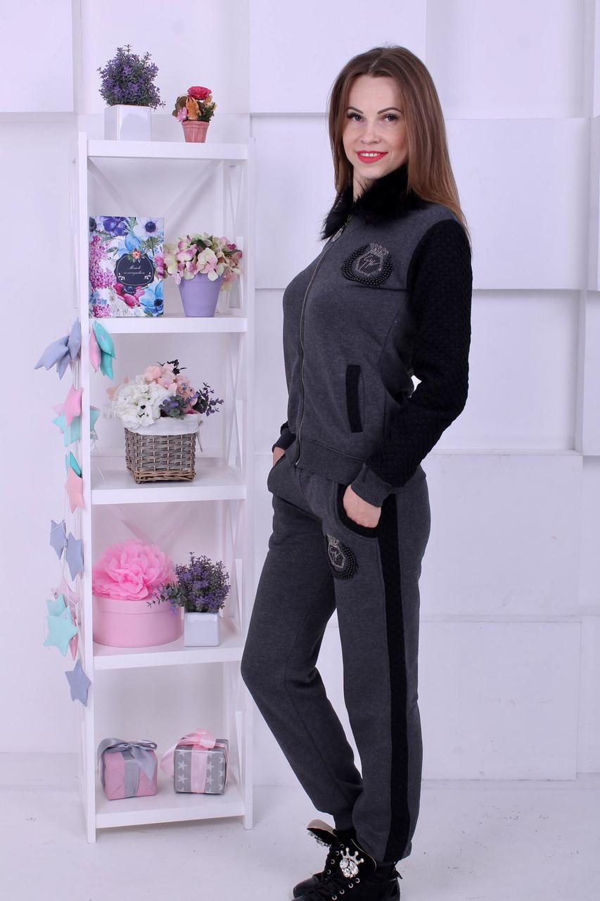 f2a012306d05 Очень теплый женский спортивный костюм с мехом на воротнике: 1 000 ...