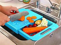 Разделочная доска на мойку для кухни, доска для мытья и шинковки овощей