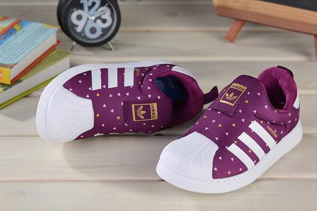 детские кроссовки Adidas Superstar Kids Purple