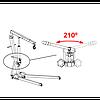 Кран гидравлический складной 1т, BAHCO, BH6FC1000, фото 2