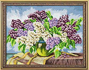 """Набор алмазной вышивки (мозаики) """"Сирень в вазе"""""""
