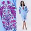 Платье модное голубого цвета с вышивкой Жар Птица, фото 3