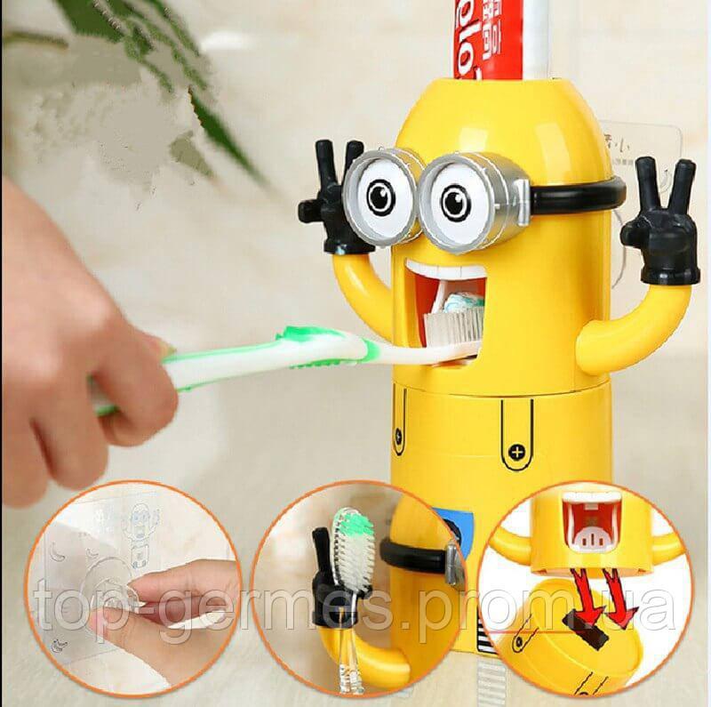 """Дозатор зубной пасты+держатели зубных щеток """"миньен"""""""