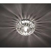 Точечный декоративный светильник с кристалом Feron С1010 прозрачный хром, фото 1