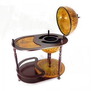 Глобус бар напольный со столиком Земной шар 42004 R, фото 2