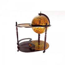Глобус бар напольный со столиком Земной шар 42004 R, фото 3