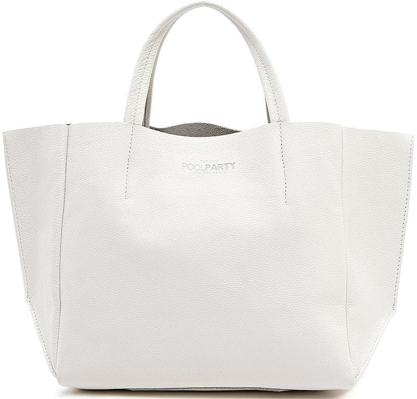 Кожаная сумка для женщин POOLPARTY SOHO soho-white белая