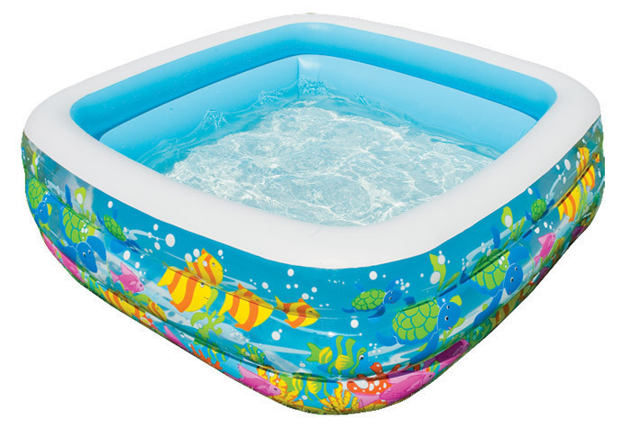 Бассейн детский надувной 57471 Аквариум Intex 159х159х50 см