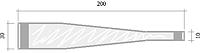 Ножки для воблеров, 200х30(10) мм.