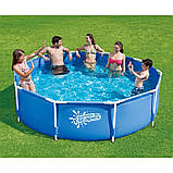 Каркасный бассейн Intex 28202 с насосом(56999) Metal Frame Pool 305x76 см, фото 2