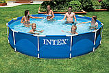 Каркасный бассейн Intex 28202 с насосом(56999) Metal Frame Pool 305x76 см, фото 4
