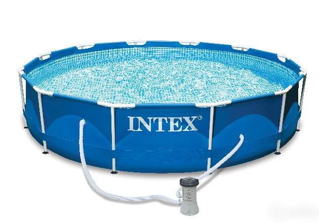 Каркасный бассейн Intex 28212 (56996) Metal Frame Pool 366x76 см