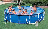 Каркасный бассейн Intex 28212 (56996) Metal Frame Pool 366x76 см, фото 3