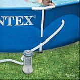 Каркасный круглый бассейн Intex 28218 Metal Frame Pool 366смх99см, фото 2