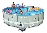 Каркасный бассейн Ultra Frame Pool Intex 28322 488х122 см с фильтрующим насосом
