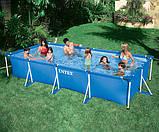 Каркасный прямоугольный бассейн для всей семьи 28273 (58982) Intex 450х220х84 см, фото 2