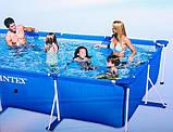 Каркасный прямоугольный бассейн для всей семьи 28273 (58982) Intex 450х220х84 см, фото 4