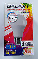 Лампа LED bulb 3-Step А60 6.5W-E14 4100K (3 кроки яскравості,кут розсіювання 220) (2РОКИ)ТМ GALAXY