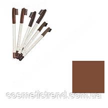 Карандаш для бровей водостойкий со щеточкой Flormar Eyebrow Pencil №402 Brown, фото 3