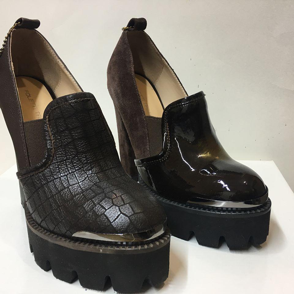 Туфли (замшевые)+кожа