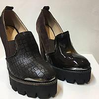 Туфли (замшевые)+кожа, фото 1