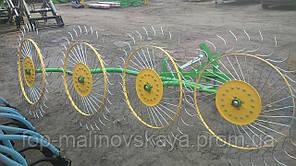 Грабли-ворошилки Agromech на круглой трубе (4 секции, спица оцинкованная) Украина-Польша