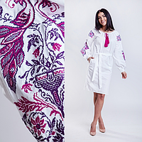 Белое платье с вышивкой Жар Птица