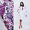 Белое платье с пурпурной вышивкой Жар Птица, фото 3