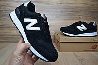 Мужские кроссовки New Balance 1400 черные (серебристая N) Топ Реплика Хорошего качества, фото 1