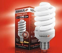 Лампа энергосберегающая E14 15 Вт  2700К NEW T2 FULL SPIRAL MAXUS