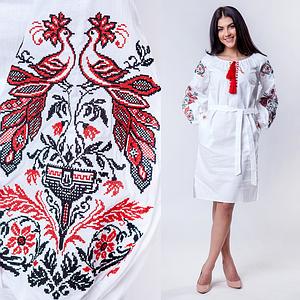 Белое вышитое платье Жар Птица